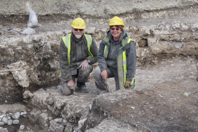 Gill and Gerald Cramp on the Dover Dig, February 2016
