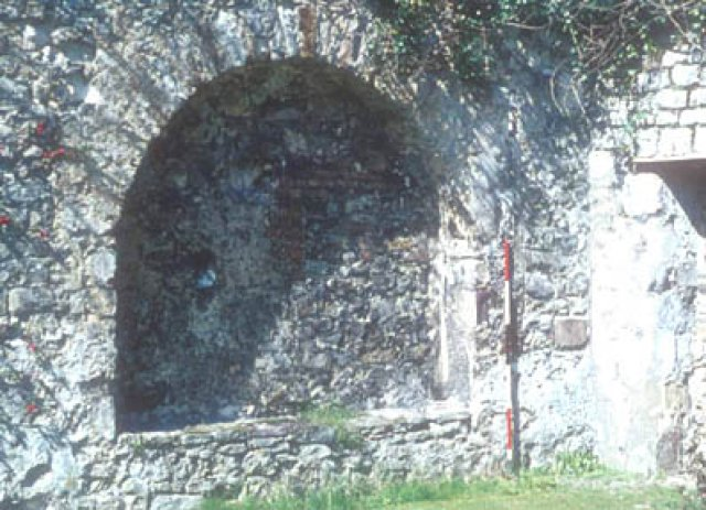 Arched Recess in West Wall of Refectory