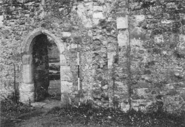 Entrance to Refectory with Traces of Abutment of East Wall of West Range